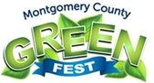 Green and Blue Logo with Leaves for Montgomery County GreenFest