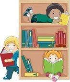 Children at reading books