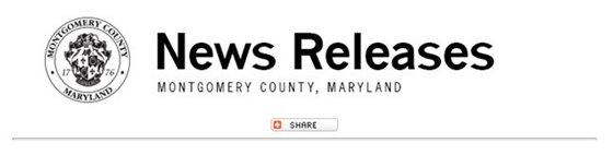 News release logo for Montgomery County, MD