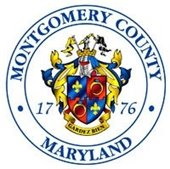 Montgomery County seal with red and blue shield