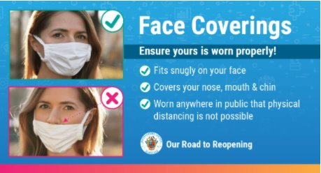 Updated Face Coverings