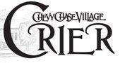 Chevy Chase Village Crier vintage logo in black