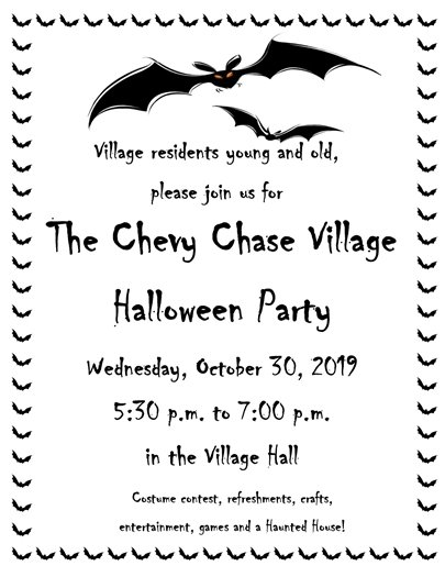 Chevy Chase Village Halloween Party TONIGHT!