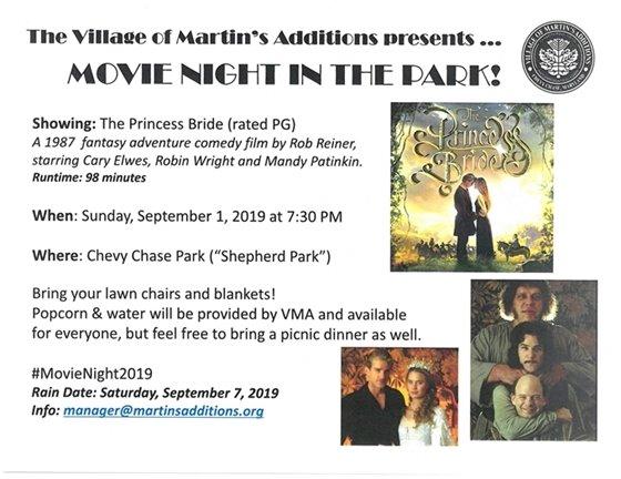 Village of Martin's Additions Movie Night