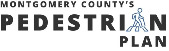 Montgomery County Pedestrian Plan logo with walking figure
