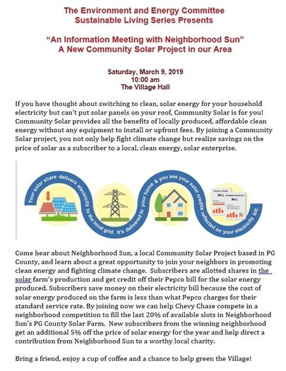 Environment and Energy Sustainable Living Series Flyer with colorful logo