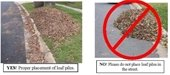 Correct Leaf Collection Piles