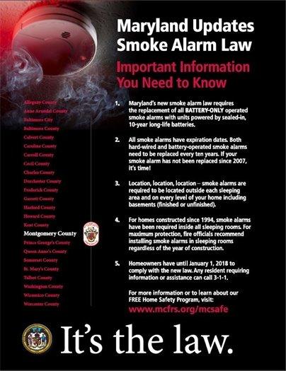 Maryland Updates Smoke Alarm Law