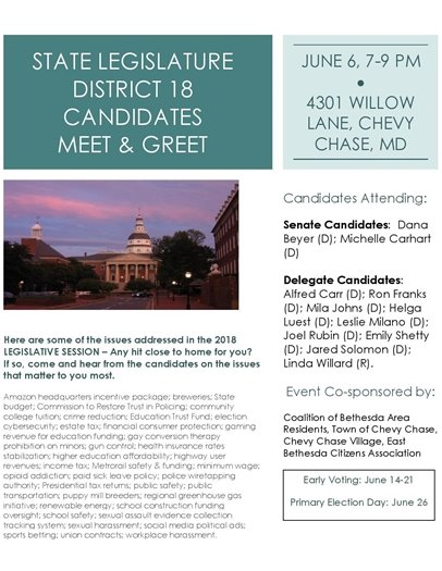 District 18 Candidates Meet  and Greet