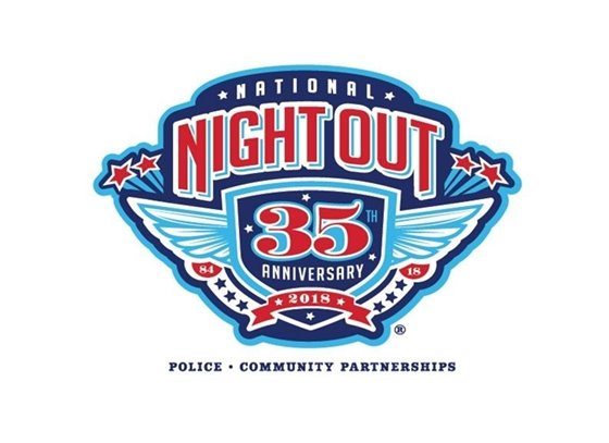 National Night Out Logo for 2018, 35th anniversary (image)