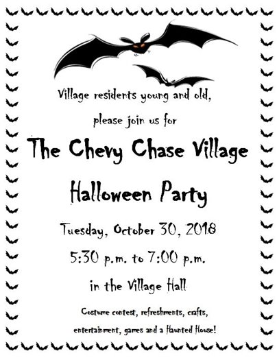 Halloween Party Flier with Bat Border