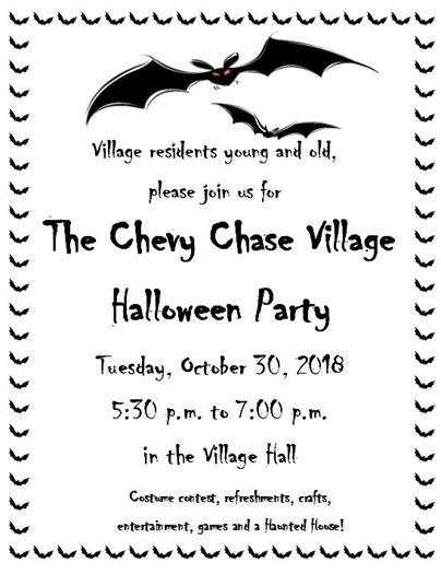 Halloween Party Flier with Bat Border
