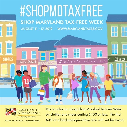MD Tax Free Week August 11-17