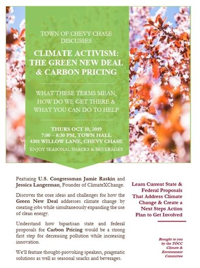 Climate Activism The Green New Deal Town of CC