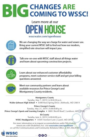 BIG Changes are Coming to WSSC green and blue text flyer