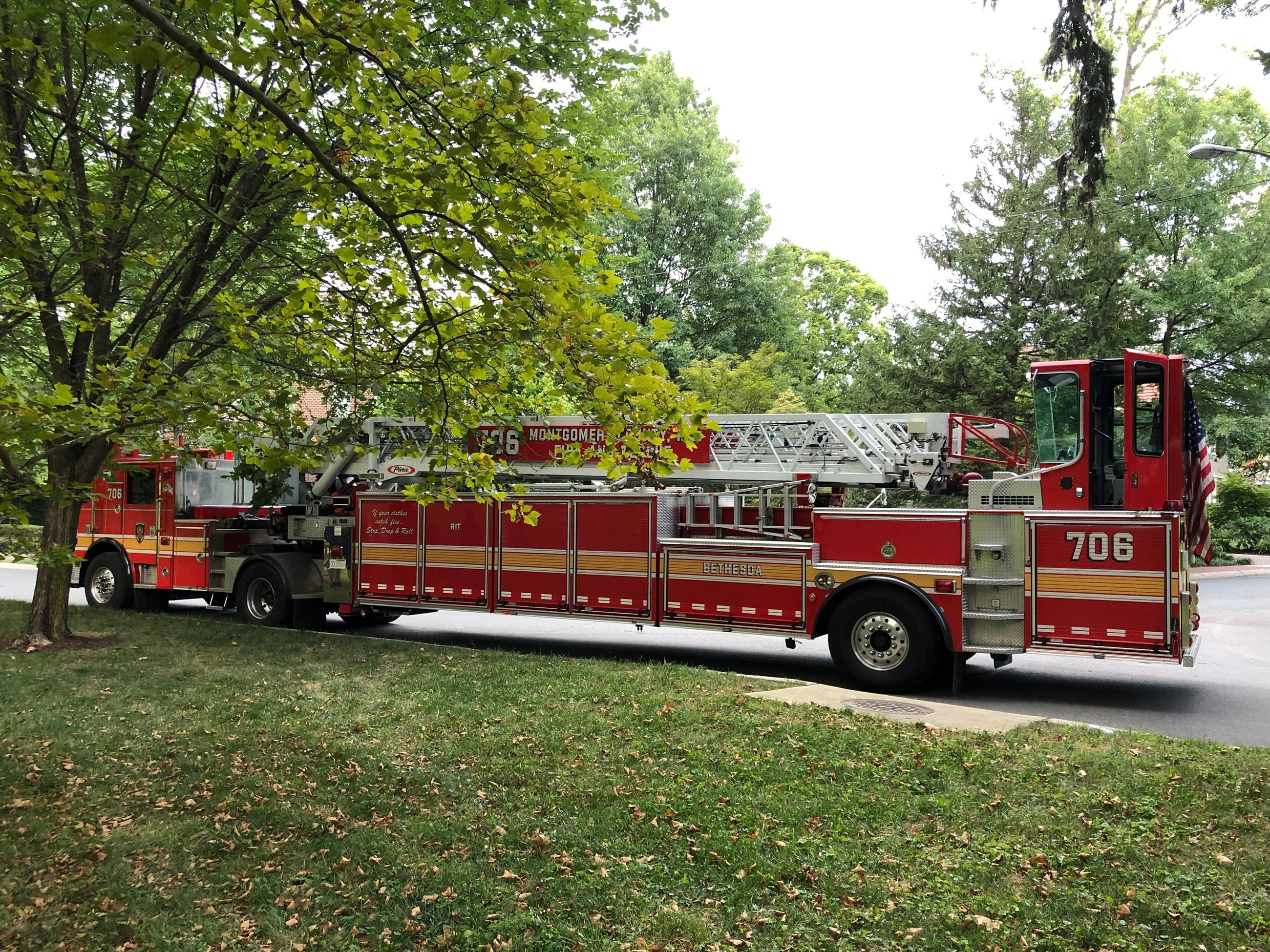 Ladder style Fire Truck