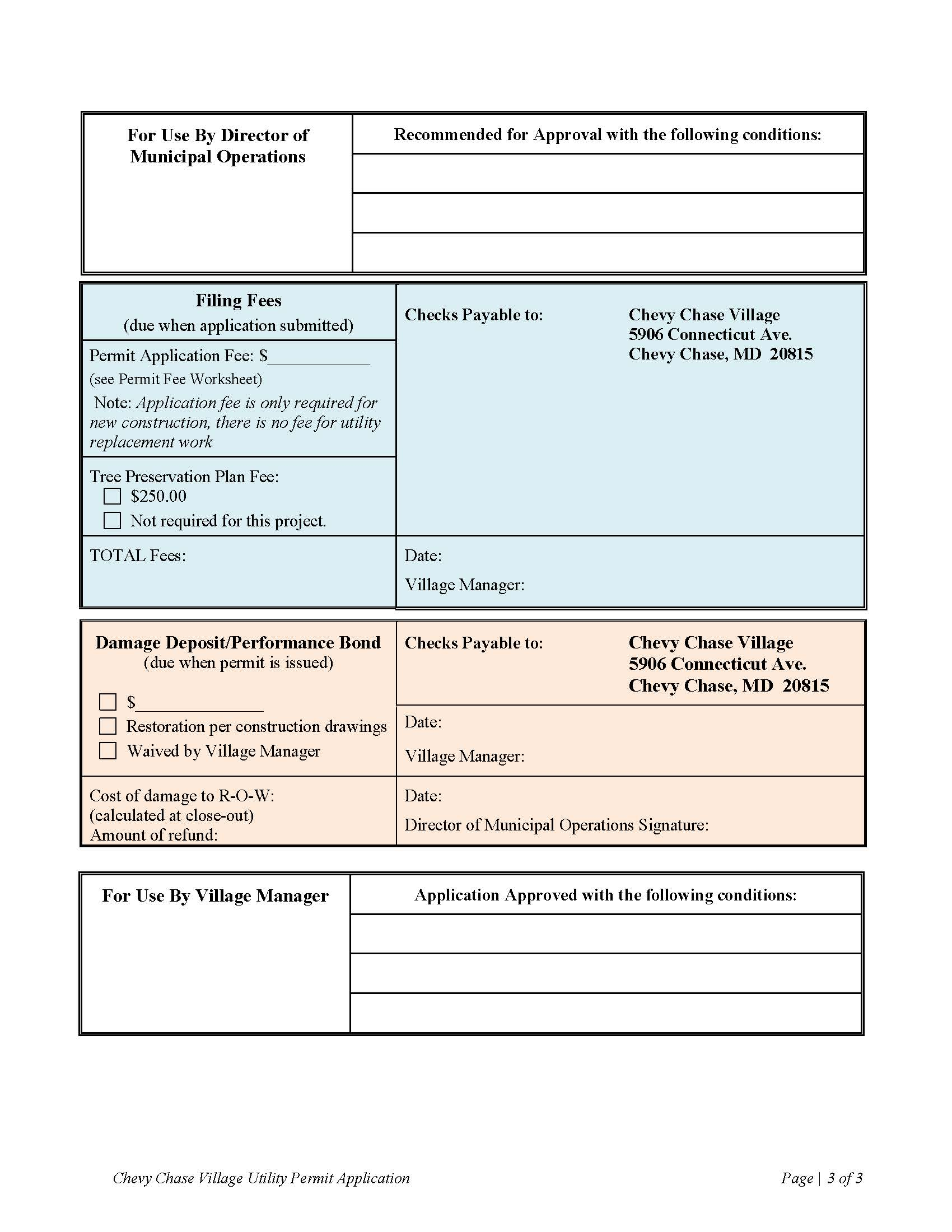 Utility Permit Application page 3