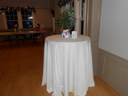 Table and holiday decorations