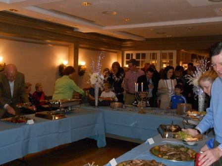 Wide view of buffet table