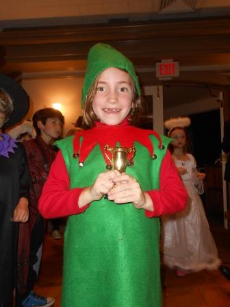 Young person dressed as an elf