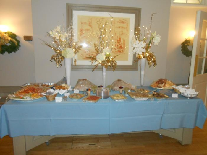 Buffet Table close up