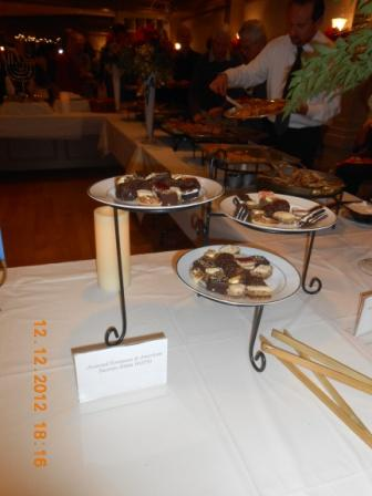 Food items on display
