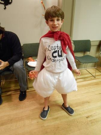 Youth dressed as Captain Underpants