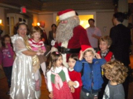 Santa and attendees