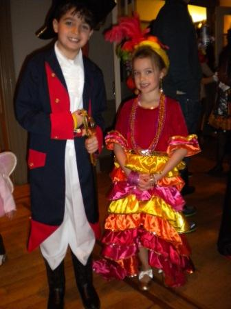 Two young people in costume