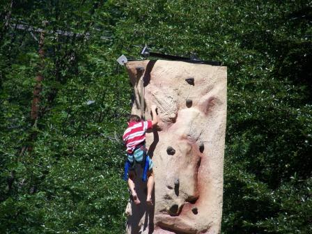 Person on climbing wall