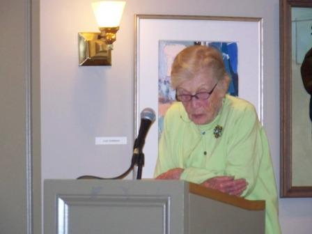 Person speaking at podium