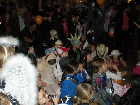 Many people in costumes - view 2
