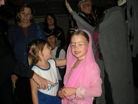 Two young persons in costume