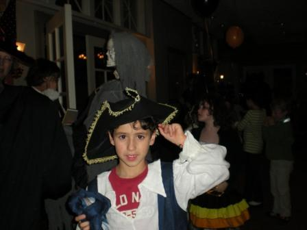 Young person in pirate costume