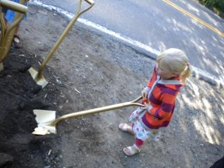 Youth with shovel