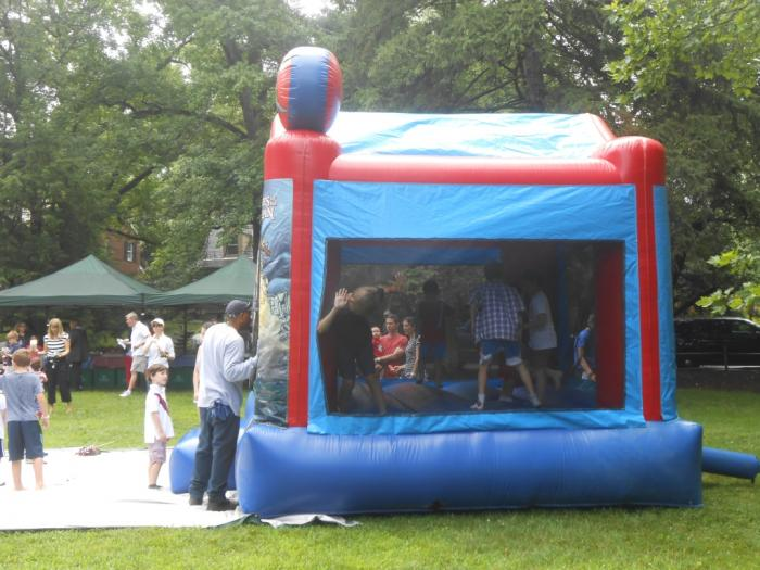 Inflated play house